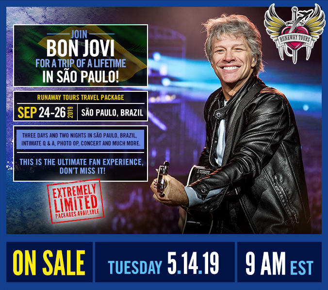 Join Bon Jovi for a trip of a lifetime in São Paulo